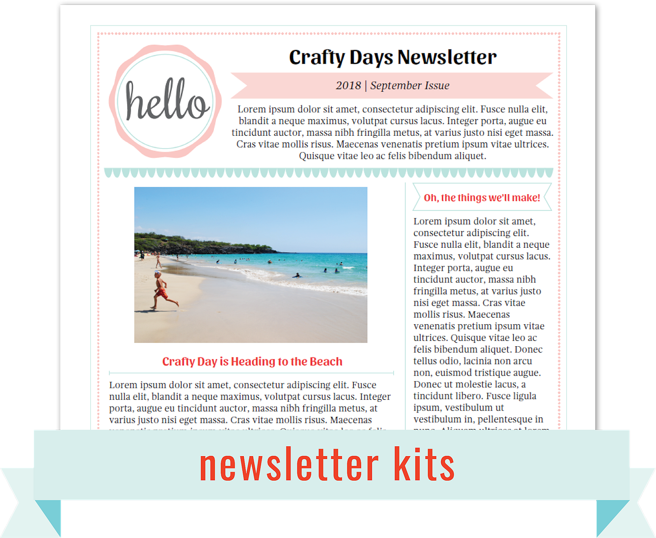 THE FOURTH BUD BEAUTIFUL PRINTABLE TEMPLATES IN PDF - 1 page newsletter templates