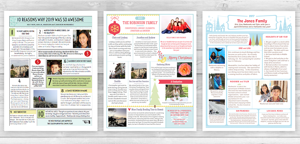 What Makes The Special Holiday Christmas Newsletter